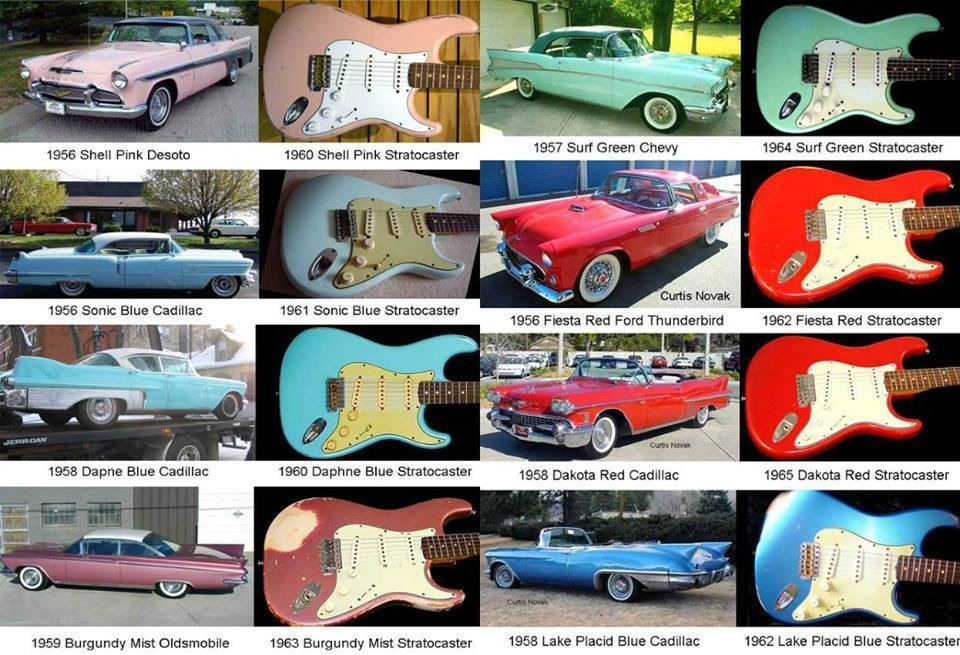 60s-Fender-Colors-and-50s-cars